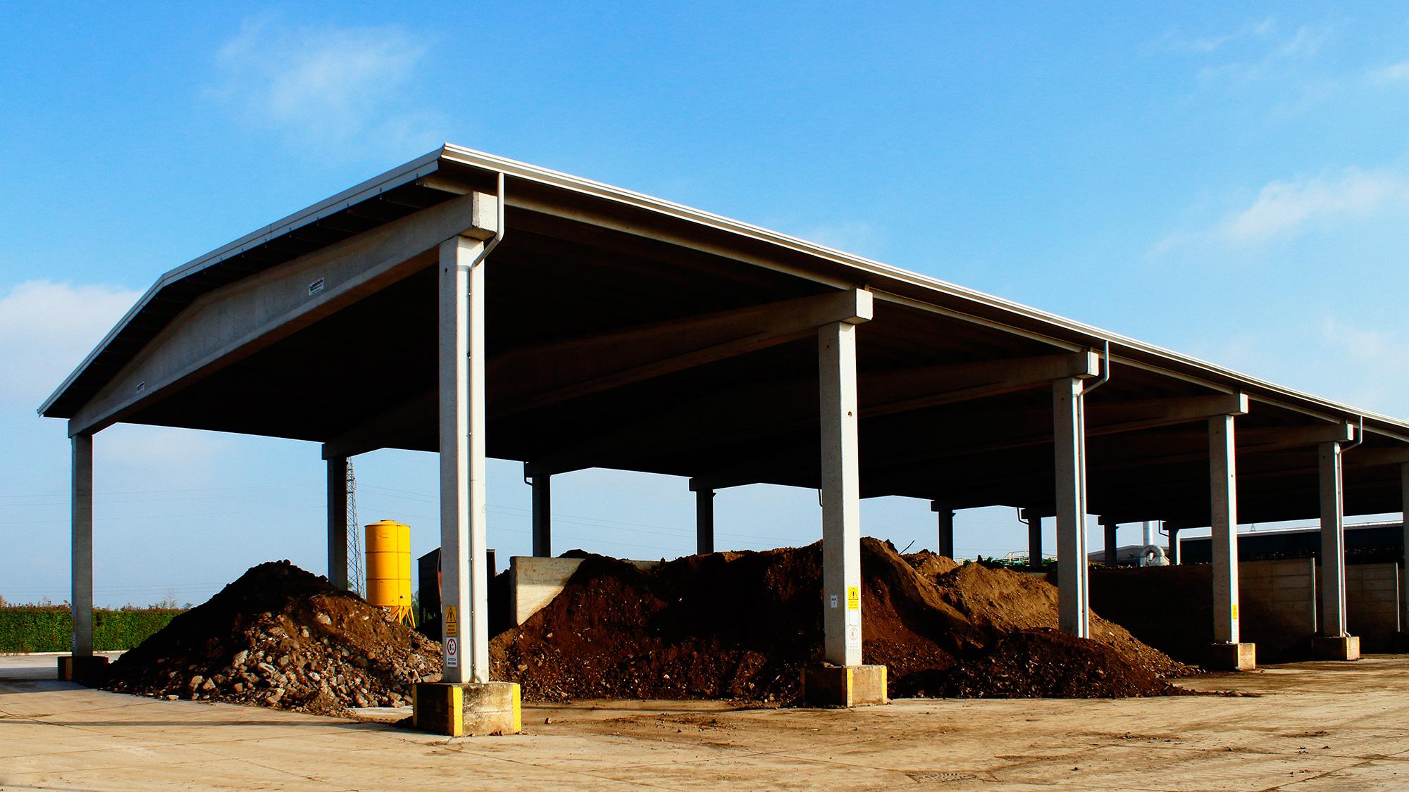 capannone di stoccaggio a servizio impianto di lavaggio terreni