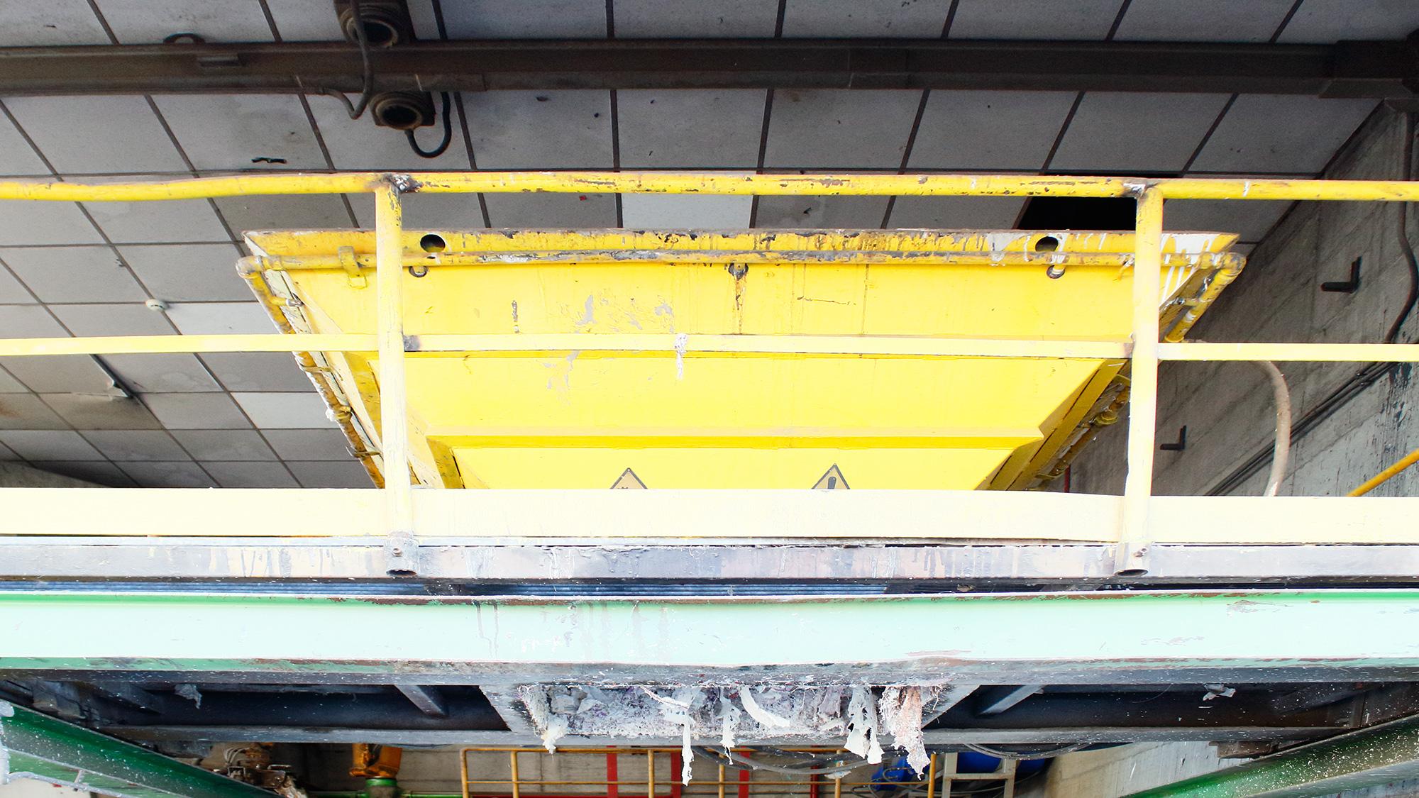 impianto di stoccaggio e adeguamento volumetrico rifiuti veduta 2