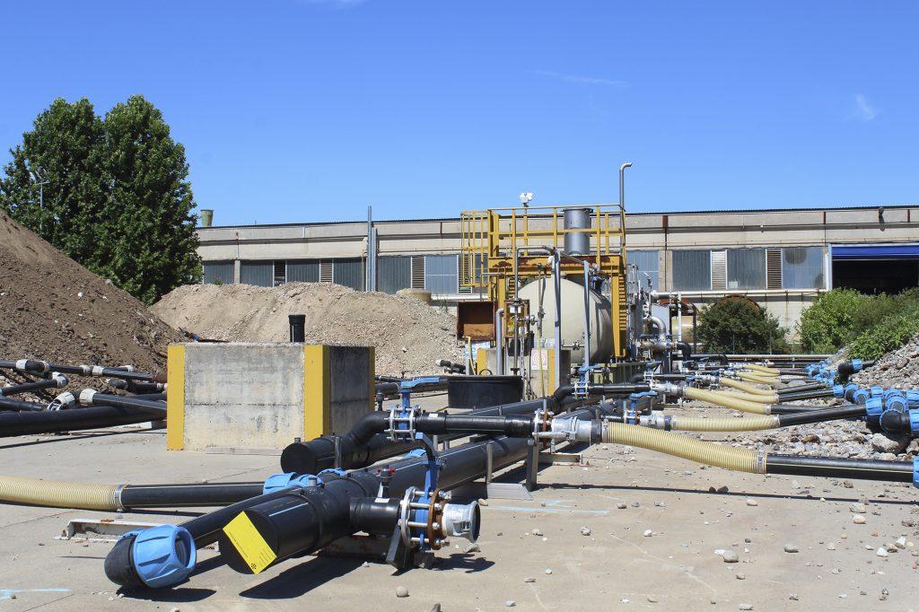impianto di bonifica biologica terreni a Brescia